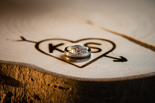 Wooden Wedding Centerpiece with Custom Brand