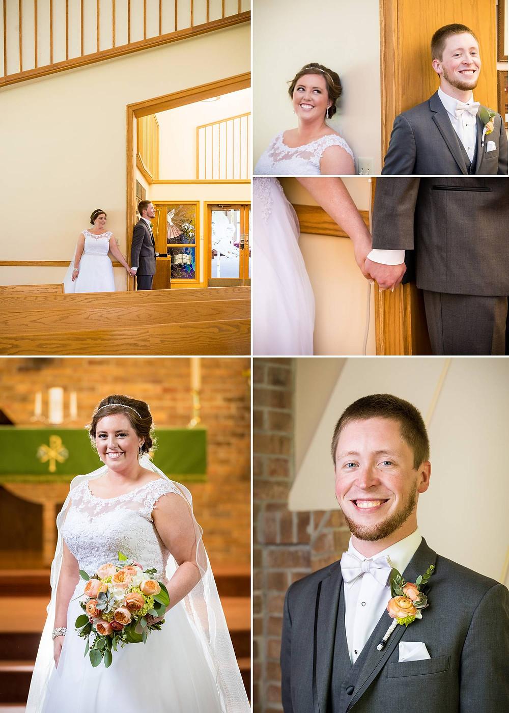 Oshkosh Wisconsin Wedding First Look   Lanari Photography