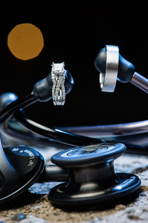 Wedding Rings with Stethoscopes