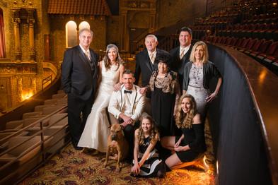 Meyer Theatre Balcony Wedding Portrait Lanari Photography