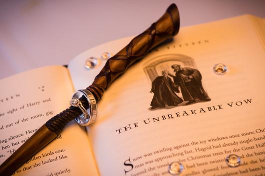 Harry Potter Wedding Ring Detail