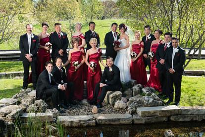 Bridal Party Portrait in Appleton WI