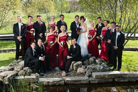 Bridal Party Portrait Memorial Park Appleton WI