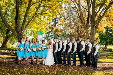 Fall Bridal Party Portrait Homestead Meadows Appleton WI