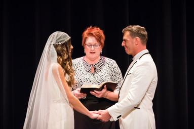 Stage Wedding Ceremony Meyer Theatre Lanari Photography