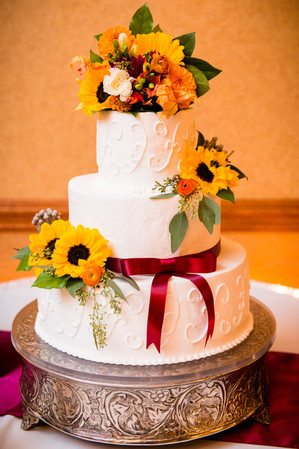 Fall Wedding Cake by Bernie's Specialty Cakes