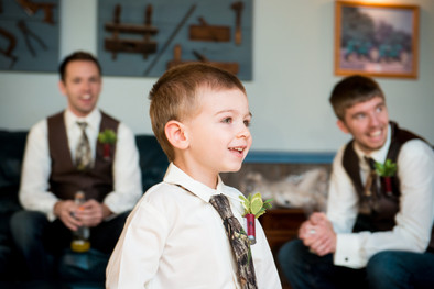 Ring Bearer with Camo Tie