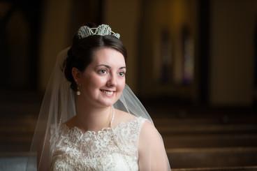 Dramatic Bridal Portrait in Church