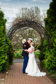 Bride and Groom Portrait, Green Bay Botanical Garden