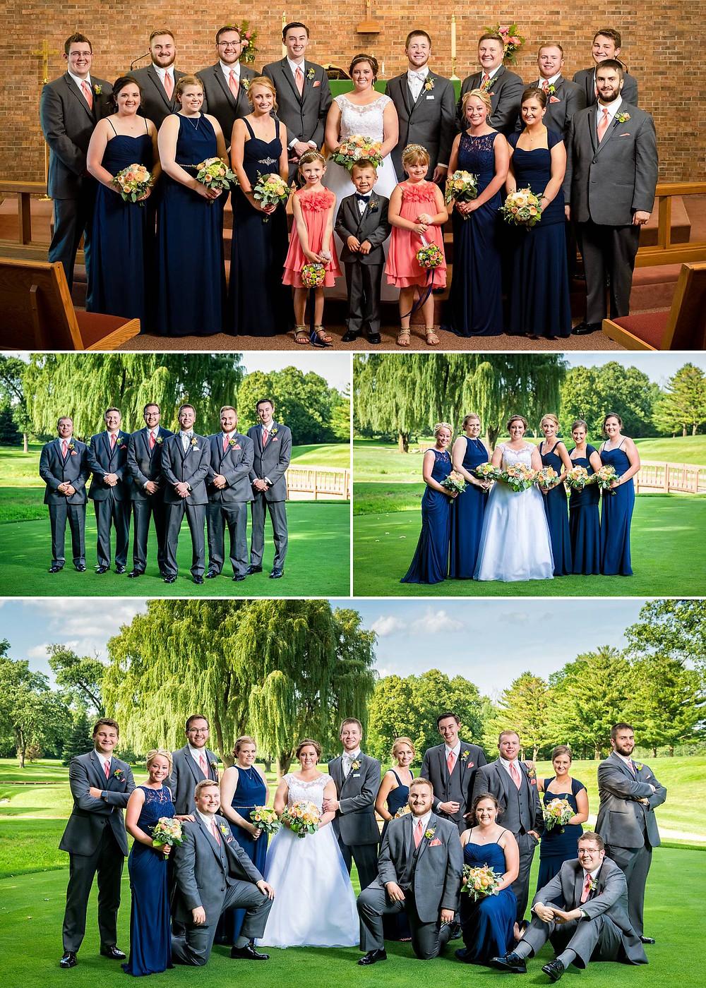 Oshkosh Wisconsin Bridal Party Photos   Lanari Photography