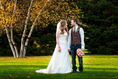 Fall Wedding Portrait Homstead Meadows Appleton WI