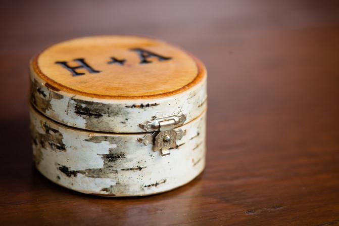 Custom Birch Branded Wedding Ring Box