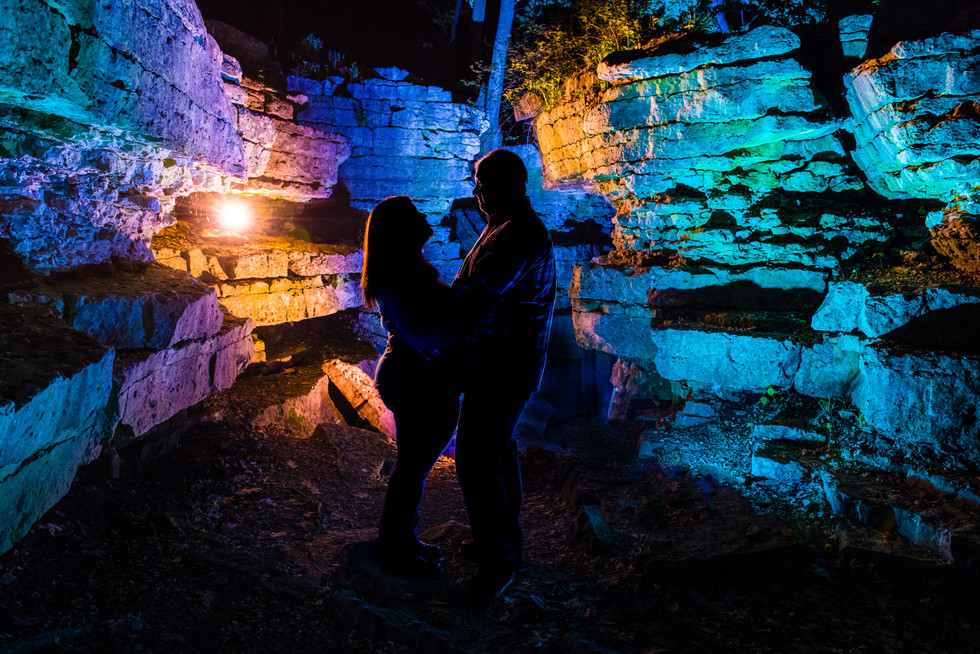 Night Engagement Lanari Photography