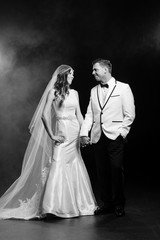 Black White Wedding Portrait Lanari Photography