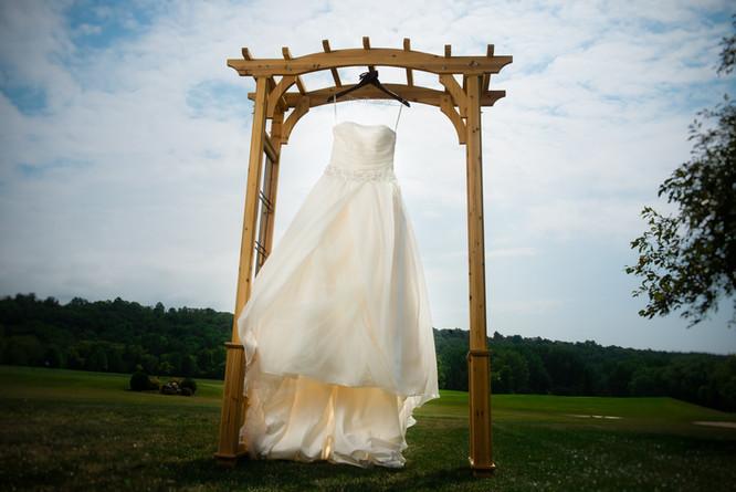 Wedding Dress at High Cliff Golf Course
