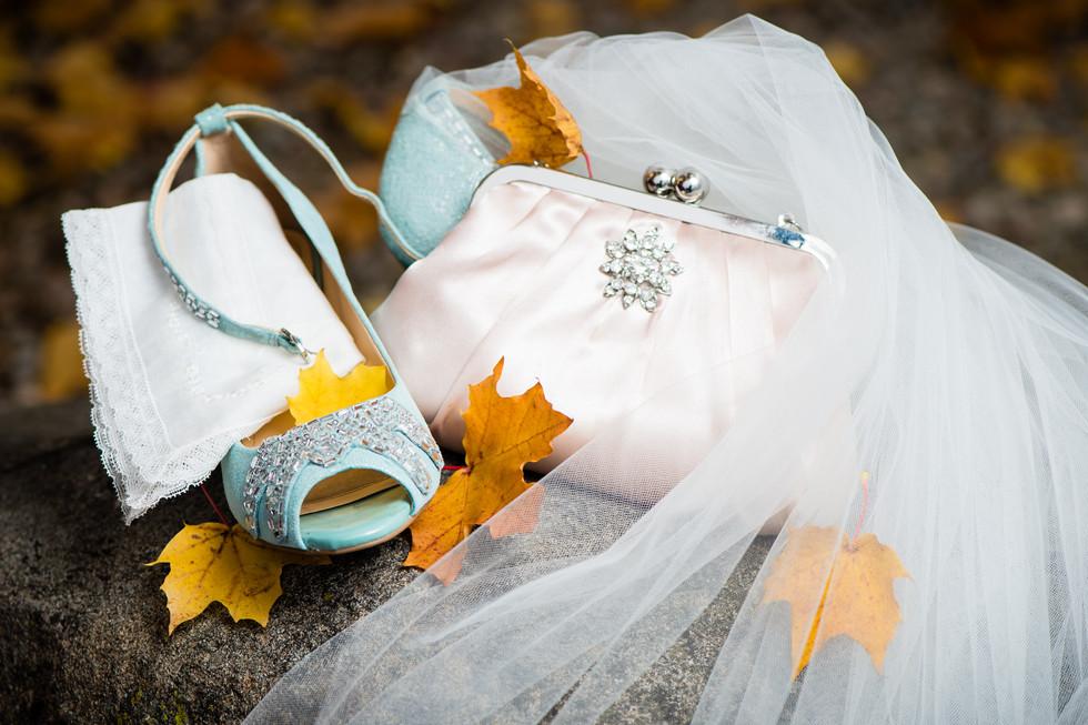 Fall Wedding Bridal Details
