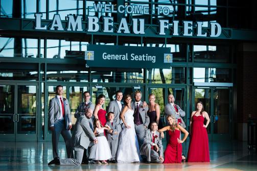 Lambeau Field Atrium Wedding Party
