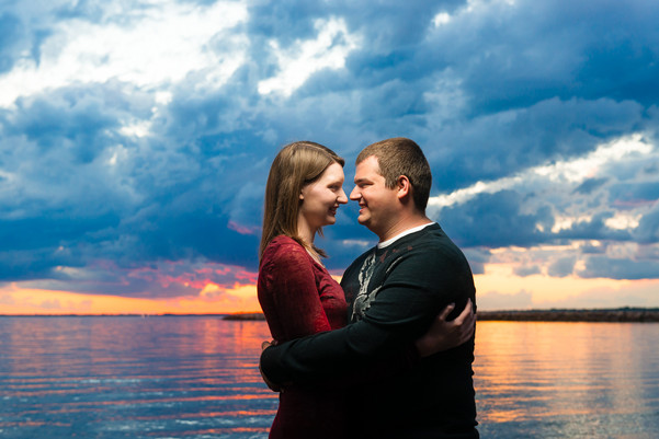 Lake Sunset Engagement Lanari Photography