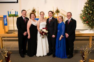 Family Winter Wedding Portrait