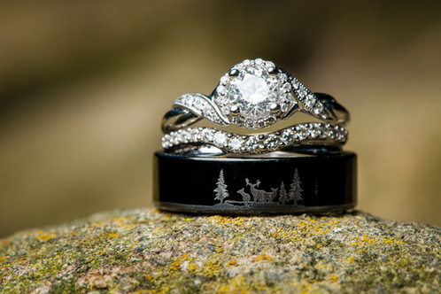 Hunter Wedding Rings with Engraving