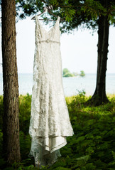 Wedding Dress at Gordon Lodge Baileys Harbor WI