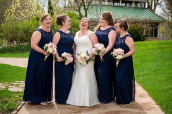 Bridesmaids at Green Bay Botanical Gardens