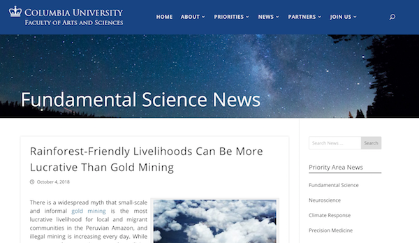 Columbia University Fundamental Science News