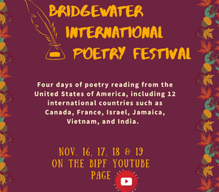 Join me at the 2020 Bridgewater International Poetry Festival