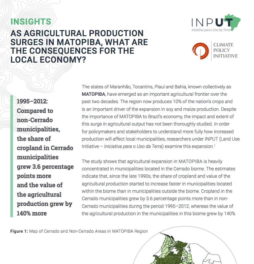 policy brief agriculture
