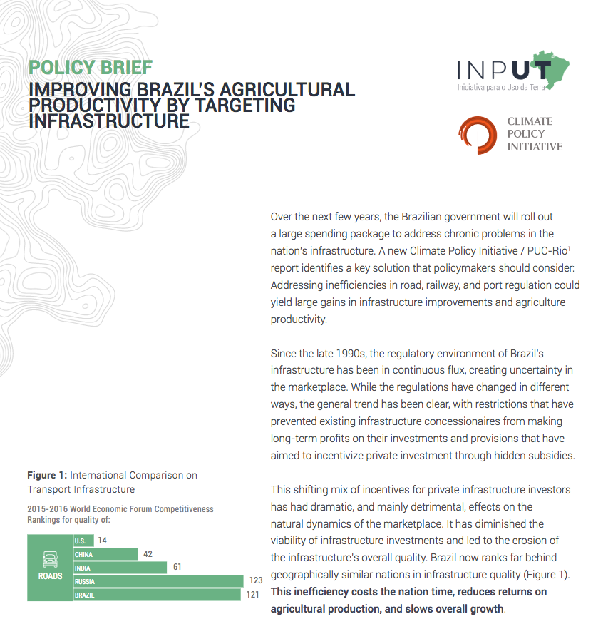 agriculture productivity policy brief