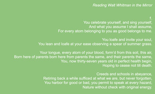 Song of Yourself - Walt Whitman's Birthday on May 31