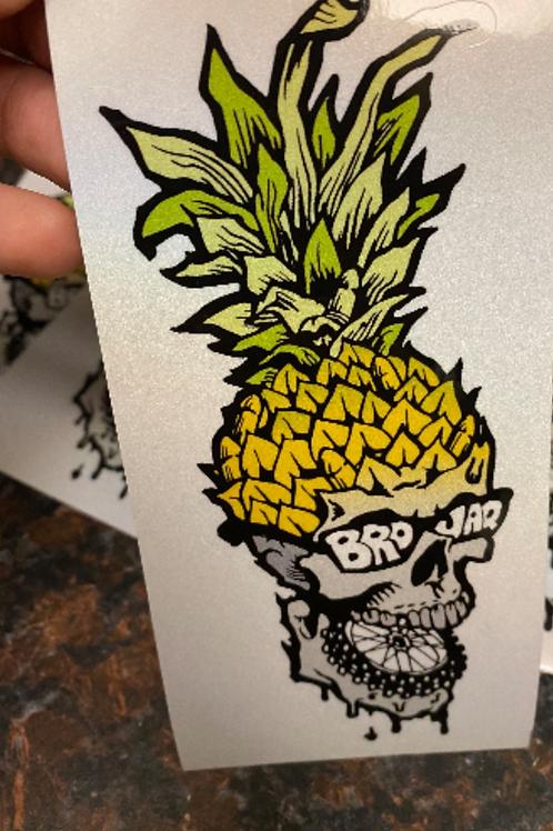 BROJAQ Brass Pineapple Sticker