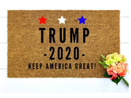Trump 2020 Hand-painted Doormat