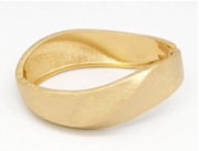B19 Gold Hinged Bracelet Sale Item Final Price $8