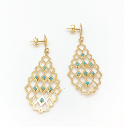 H116 Turquoise Morocco Earrings