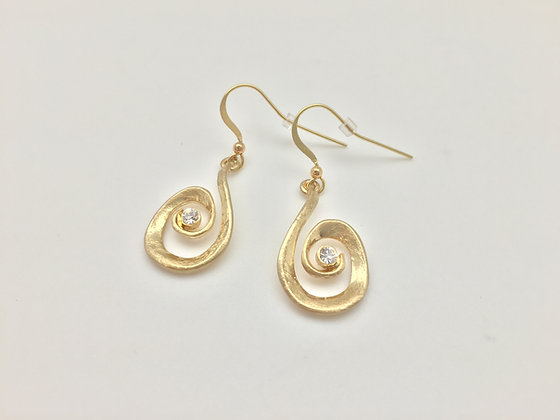 E3. Gold Tone Earrings