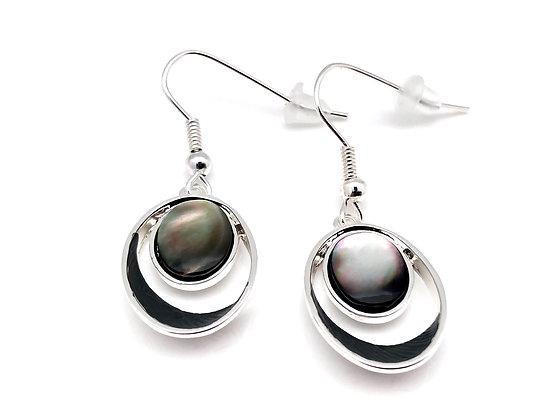 SE15 Grey Mother of Pearl Earrings