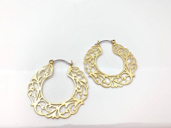 EG314 Gold Swirl Hoop