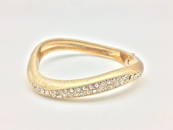 BG24 Gold Wave with CZ Bracelet