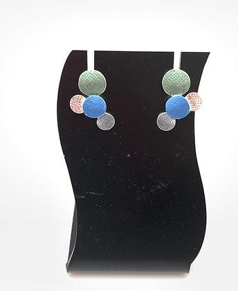 SE35 Rain Bubbles Green Combination Earrings