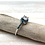Thumbnail: SR16 Turquoise CZ Silver Ring