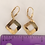 Thumbnail: H73 Glittery Open Square Earrings
