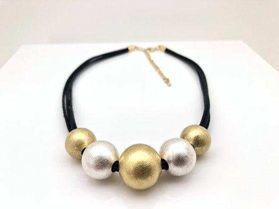 NG64 Gold and Silver Mizutama Necklace