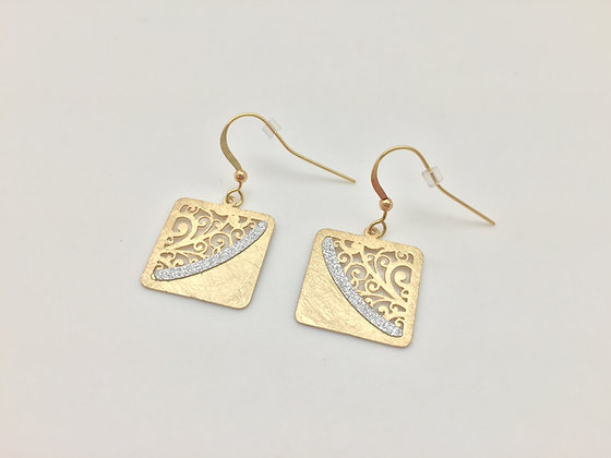 E4. Gold Tone Earrings
