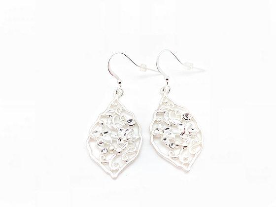 ES248 Silver Tsuta Monsho Earrings