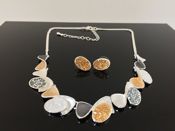 #1 SALE Final Price $15 Gold Silver and Rhodium Necklace Earrings