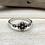 Thumbnail: SR7 Bali Little Mandala Silver Ring, Size 4 to 10