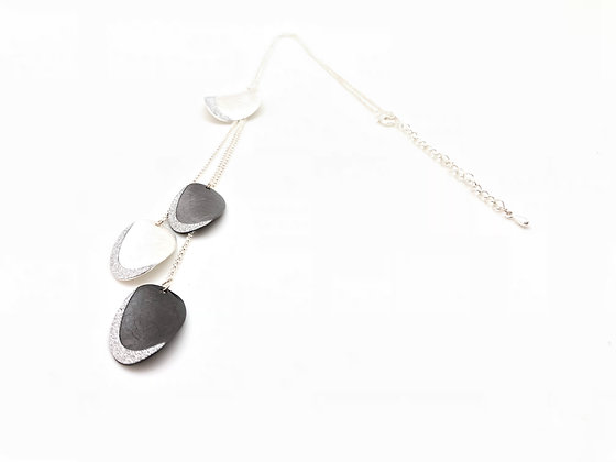 NS61 Best Seller! Silver Two Tone Y Drop Necklace