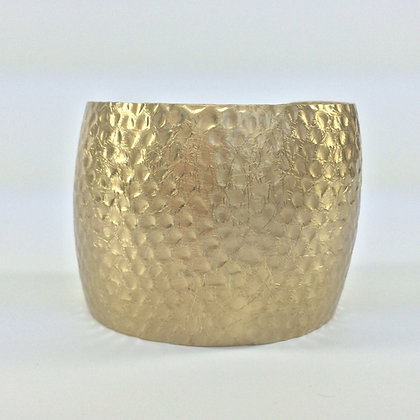 WB25 Gold Hammered Cuff, Sale Final Price $8