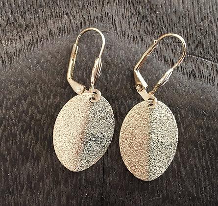 H72 Folded Glittery Earrings